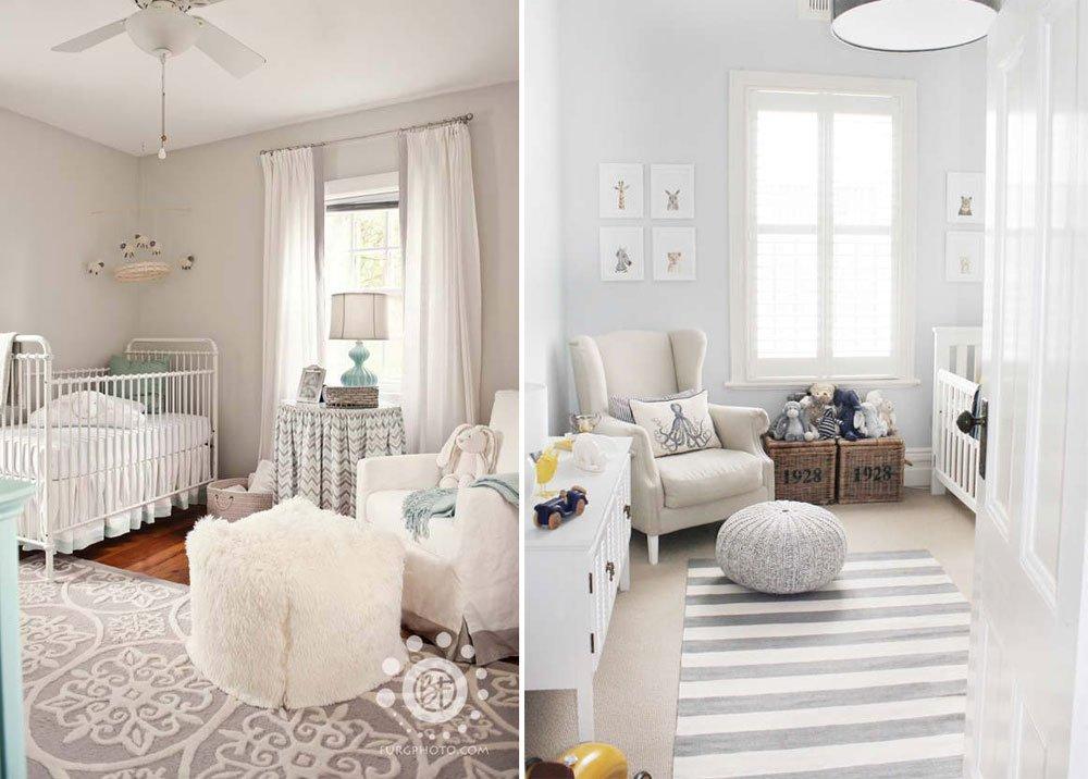 Habitaciones de bebé en blanco