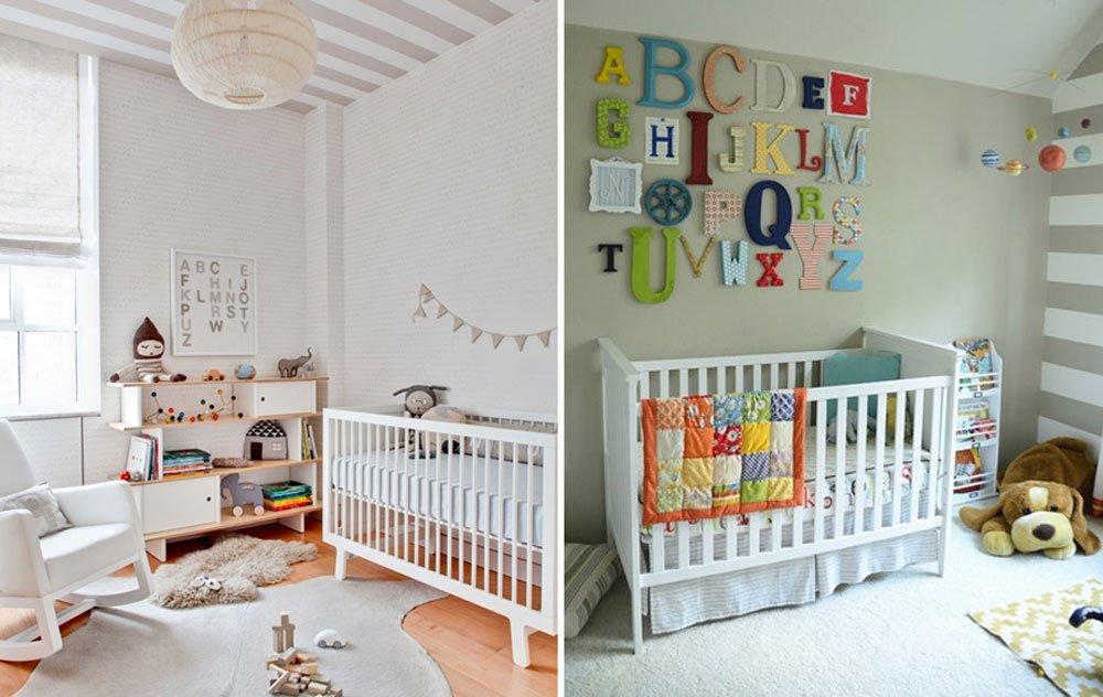 Habitaciones de bebé con rayas