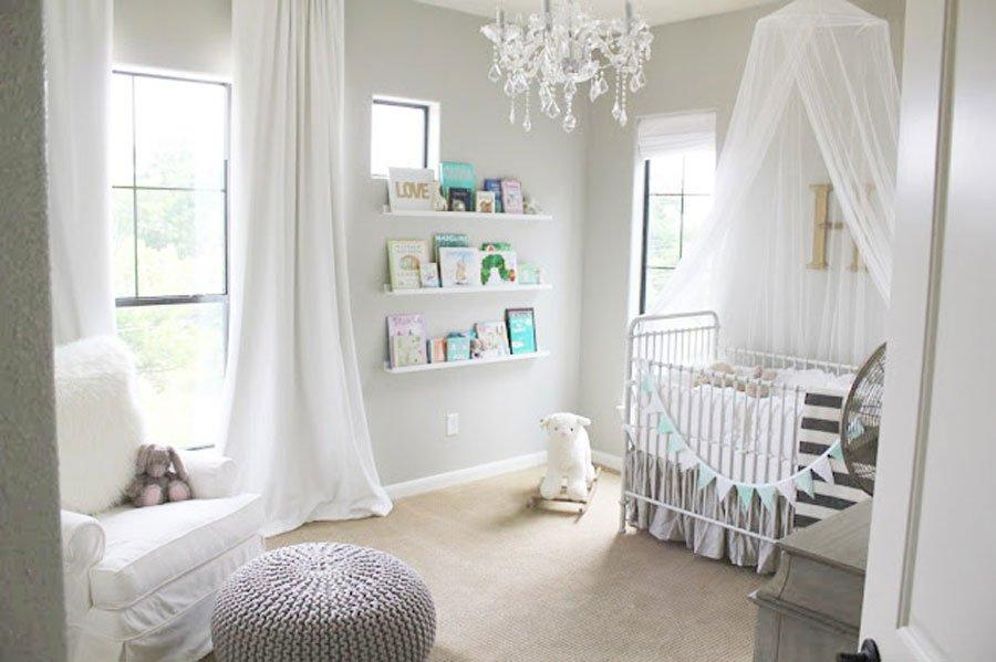Habitación de bebé niña, decoración