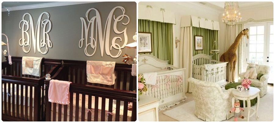 Habitaciones para bebés gemelos