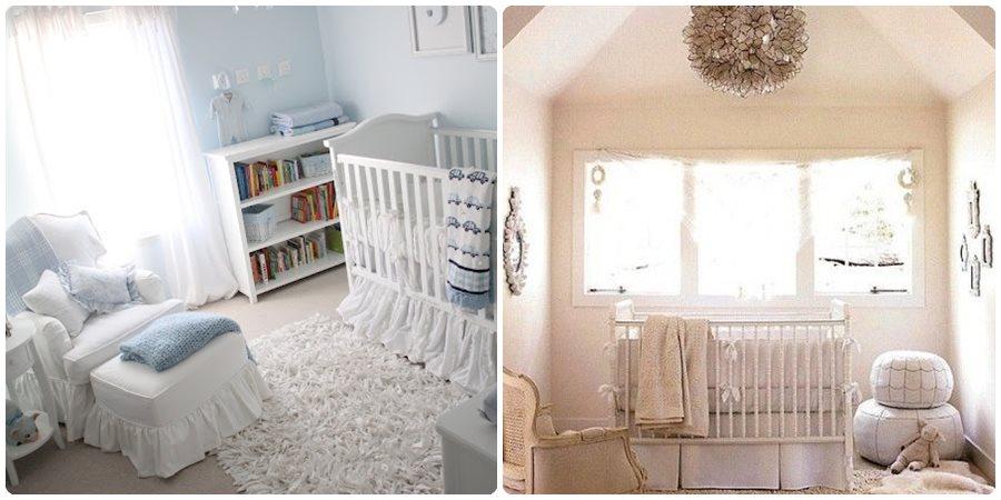 Habitaciones de bebé en tonos pasteles
