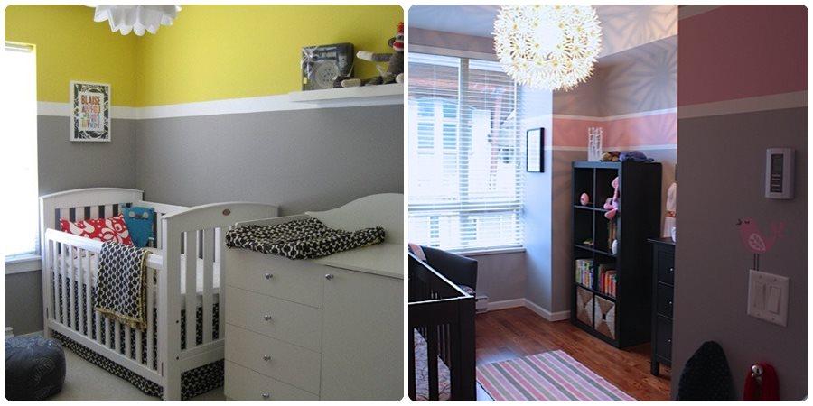 Habitaciones de bebés: cómo pintar paredes