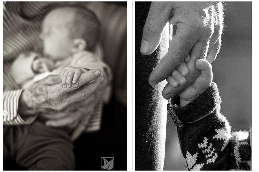 Fotos originales de abuelos y nietos
