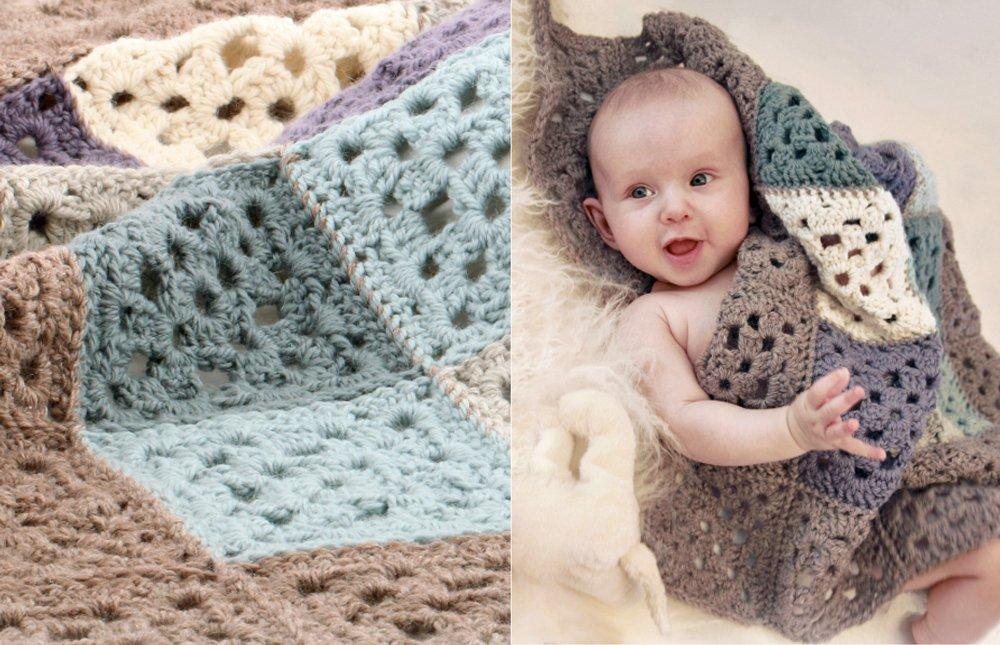 manta de ganchillo para bebés con patrón gratuito
