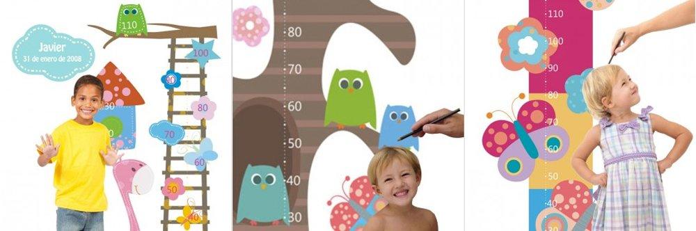 Vinilos infantiles medidores personalizable