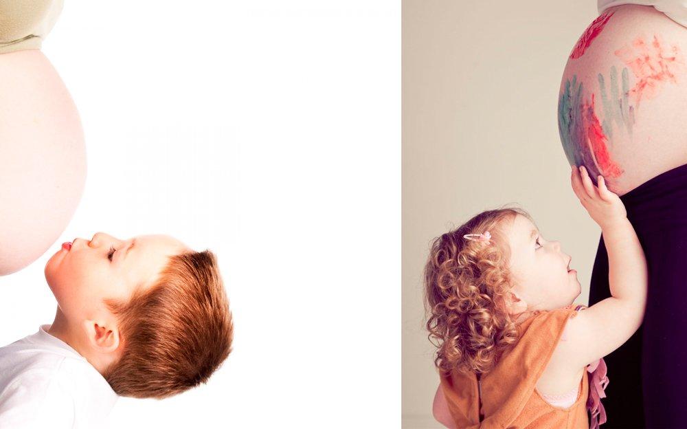 fotos de embarazo con hermanos