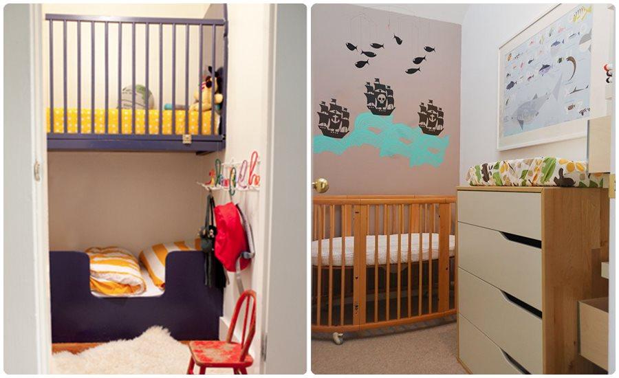 Habitaciones de bebé en pisos pequeños