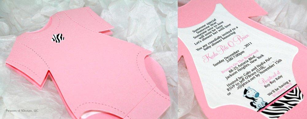 Invitacion handmade para baby shower