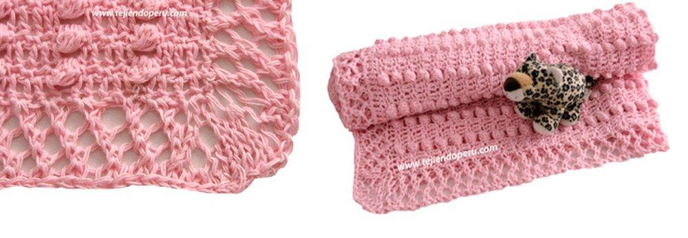 ganchillo : manta para bebés con patrón incluído