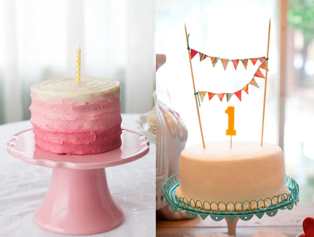 Tartas fáciles para el primer año decoradas con crema
