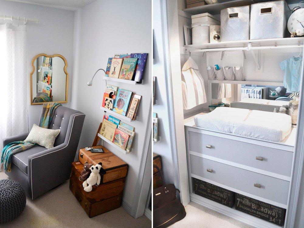 Ideas prácticas para la habitación del bebé: el cambiador dentro del armario