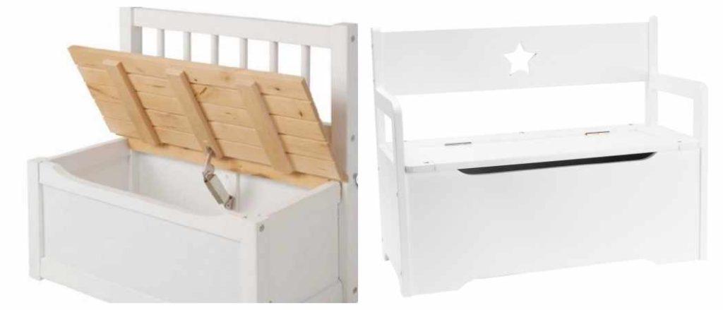 Baúles infantiles, banco con cajón de almacenamiento