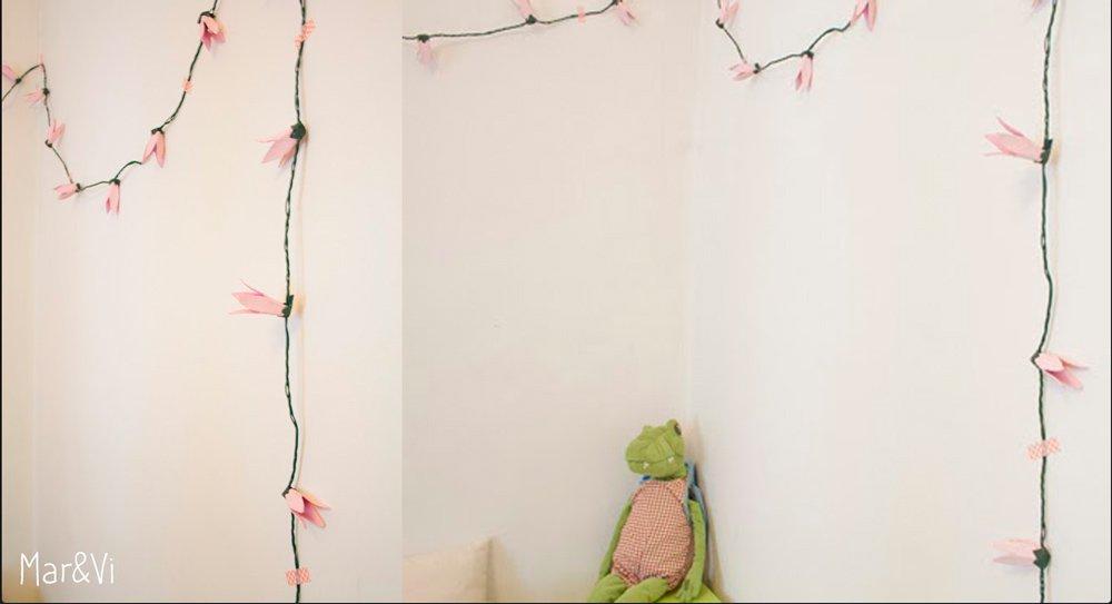 Manualidades para la habitacion del bebe: guirnalda de luces