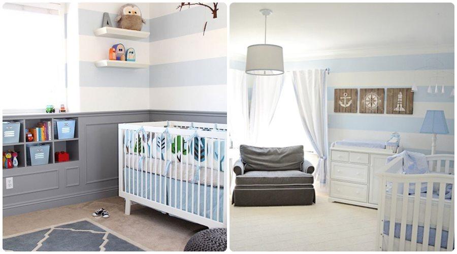 Habitaciones de bebés a rayas