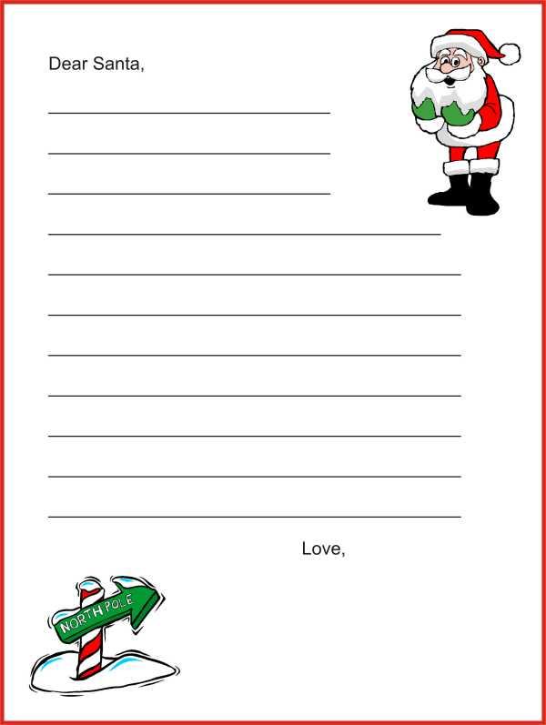 Imprime gratis tu carta a Papá Noél