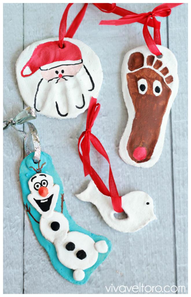 Cómo hacer adornos navideños con pasta de sal casera