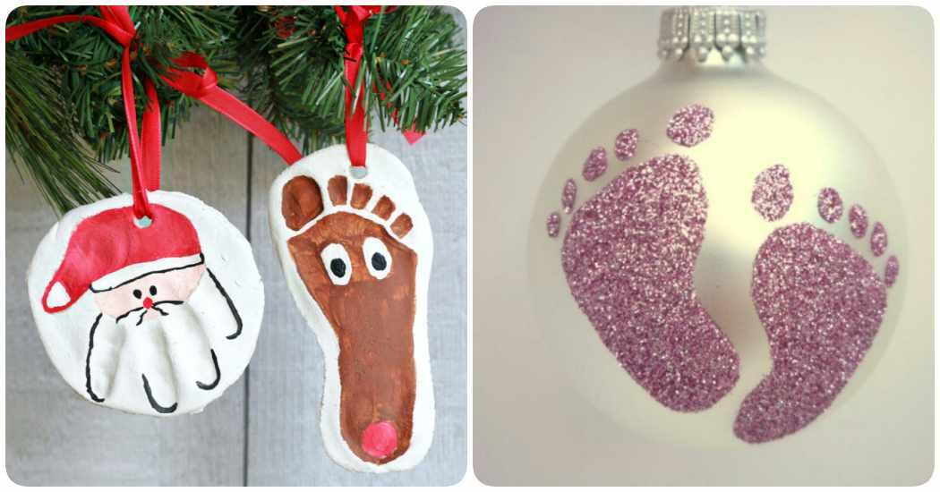 Manualidades con bebés: adornos de navidad