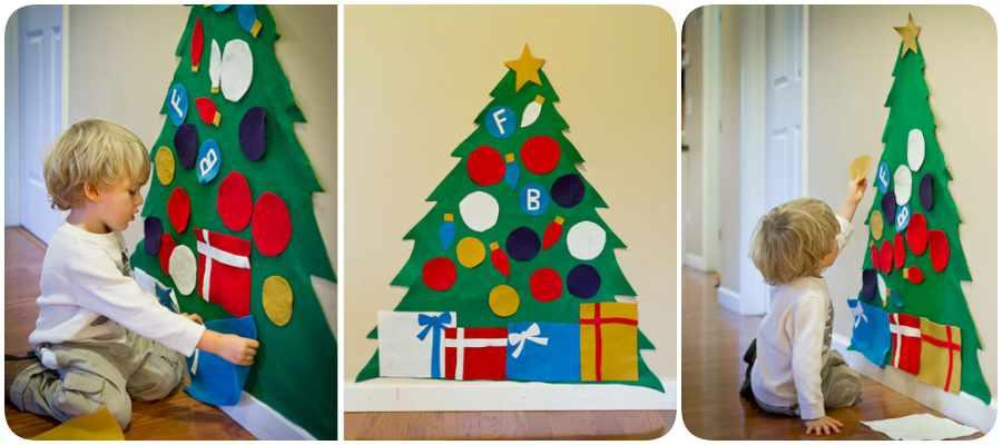 Cómo hacer un árbol de Navidad en fieltro