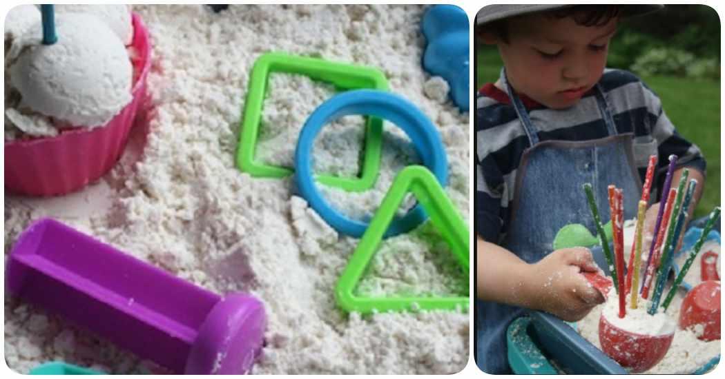 Cómo hacer arena para modelar o arena de luna