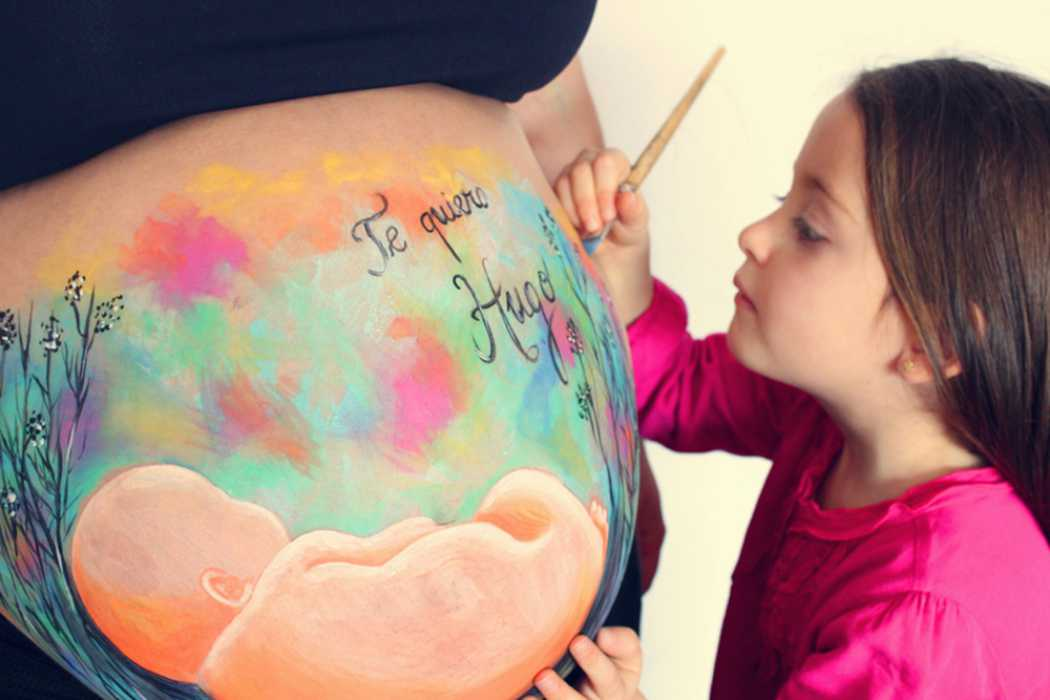 La que pinta, belly painting en Barcelona y alrededores