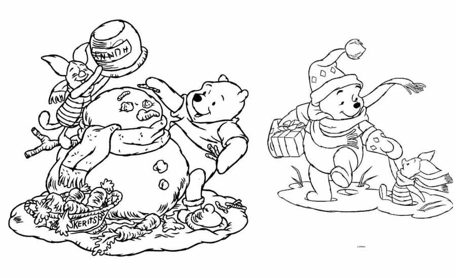 Dibujos de Navidad gratis: dibujos DIsney para imprimir