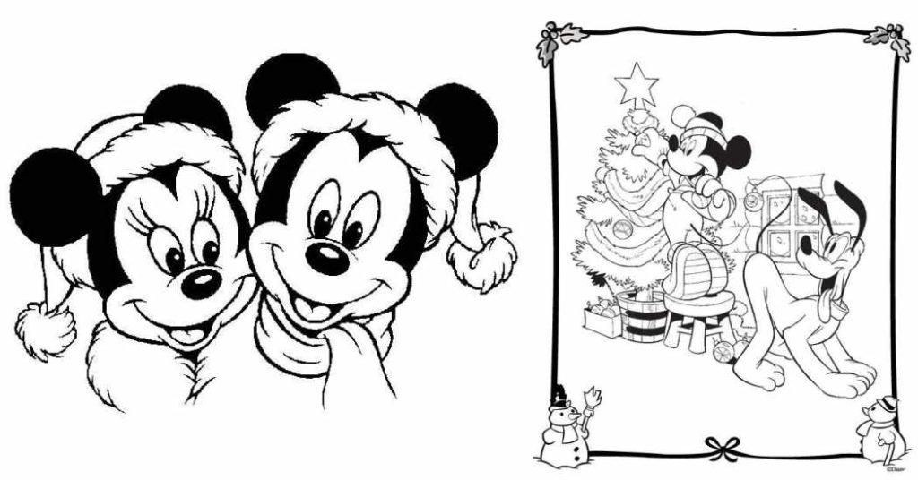 Dibujos para colorear de Navidad ¡con los personajes Disney!