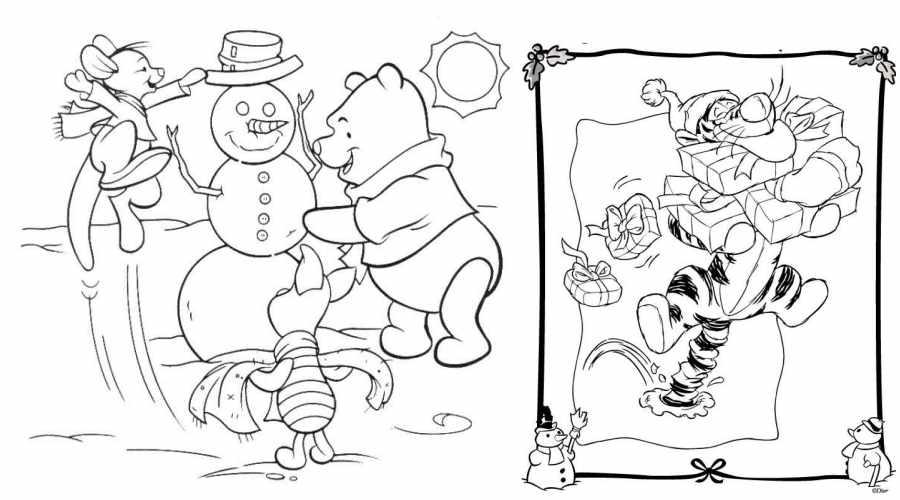 Dibujos Disney de Navidad con Winnie The Pooh