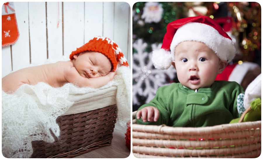 Fotos de Navidad con bebés como protagonistas