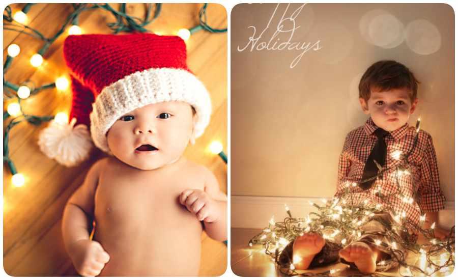 Cómo hacer fotos de Navidad a bebés