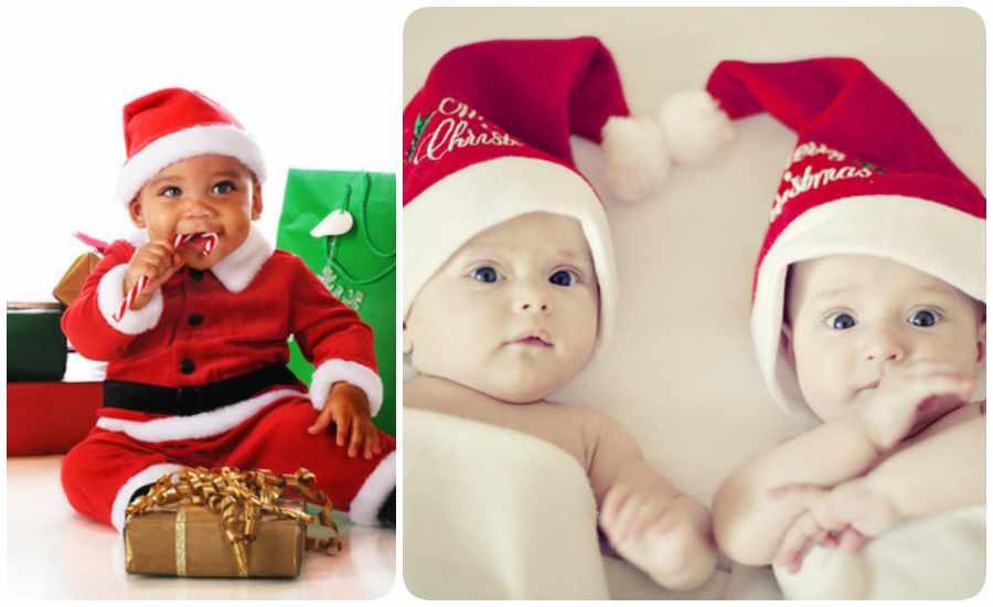 Fotos divertidas con bebés para Navidad