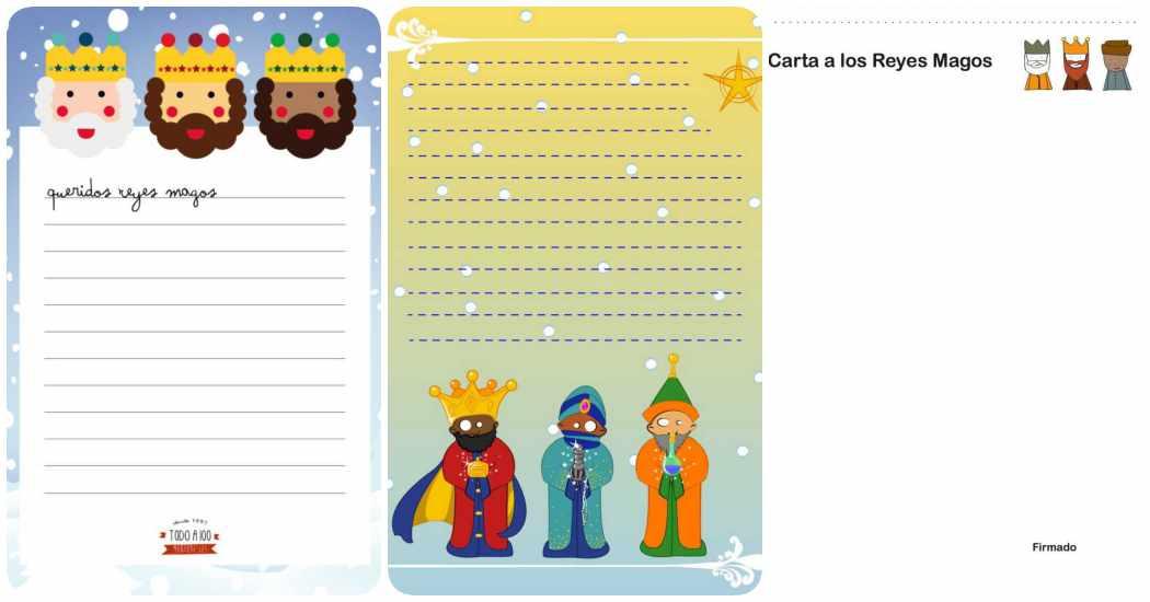 Carta a los Reyes Magos: 3 diseños para imprimir gratis