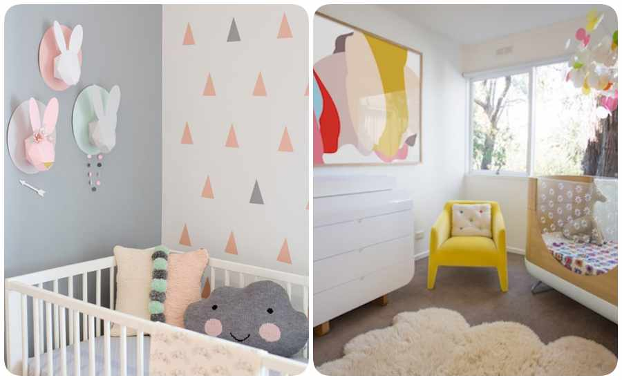Cómo decorar habitaciones de bebé
