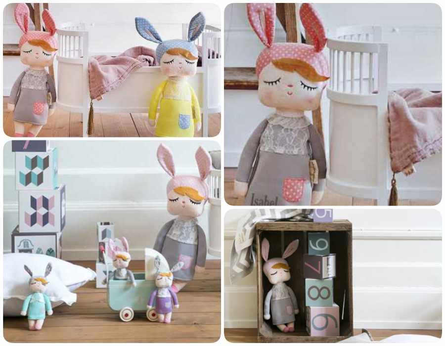 Little Bunny, muñecas de trapo para niñas