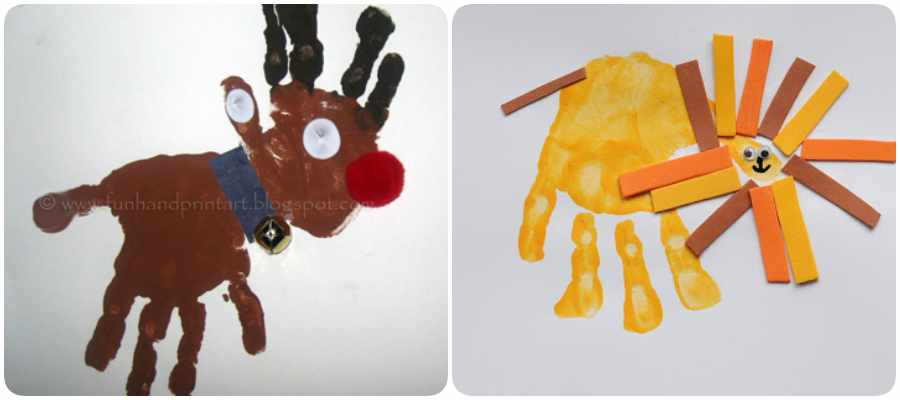 Arte con huellas de bebé