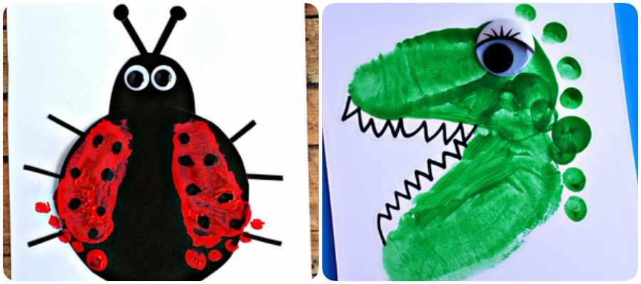 Manualidades con niños: arte con huellas