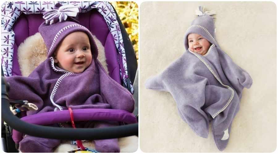 Manta para bebé en forma de estrella