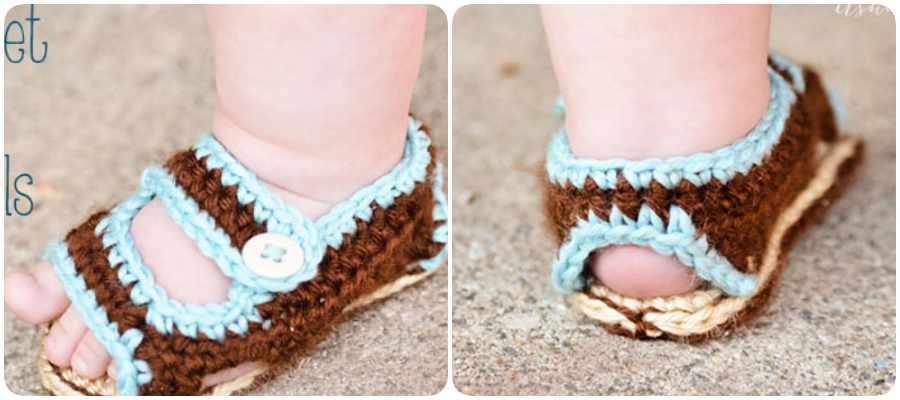 Tutorial para hacer sandalias a ganchillo