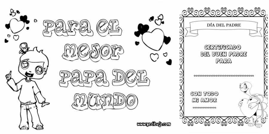 Dibujos para el Día del padre gratis