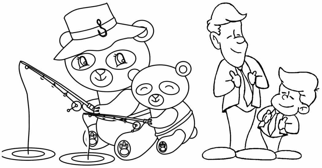 Dibujos para colorear gratis del Día del Padre