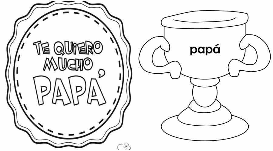 Día del padre: dibujos para colorear