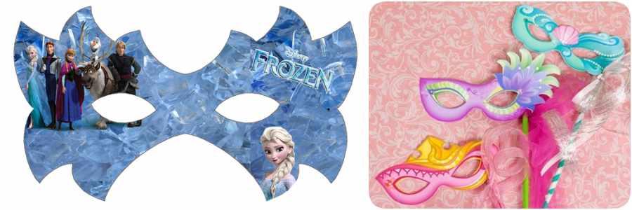 Máscaras de Carnaval de las princesas Disney