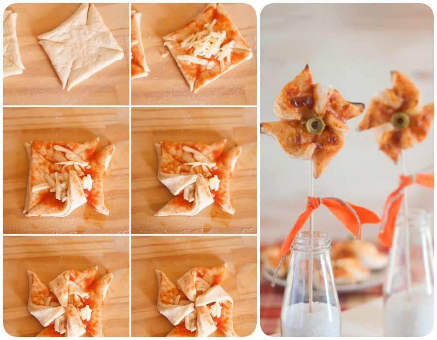 Pizza casera: molinetes