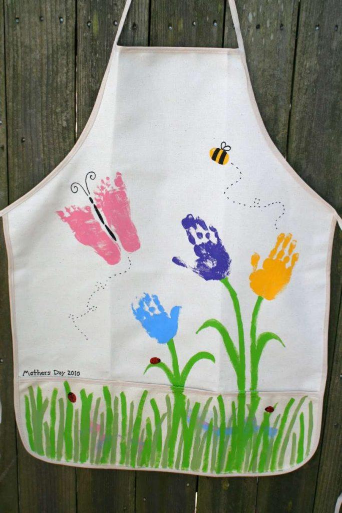 Manualidades para el Día de la Madre: delantal personalizado