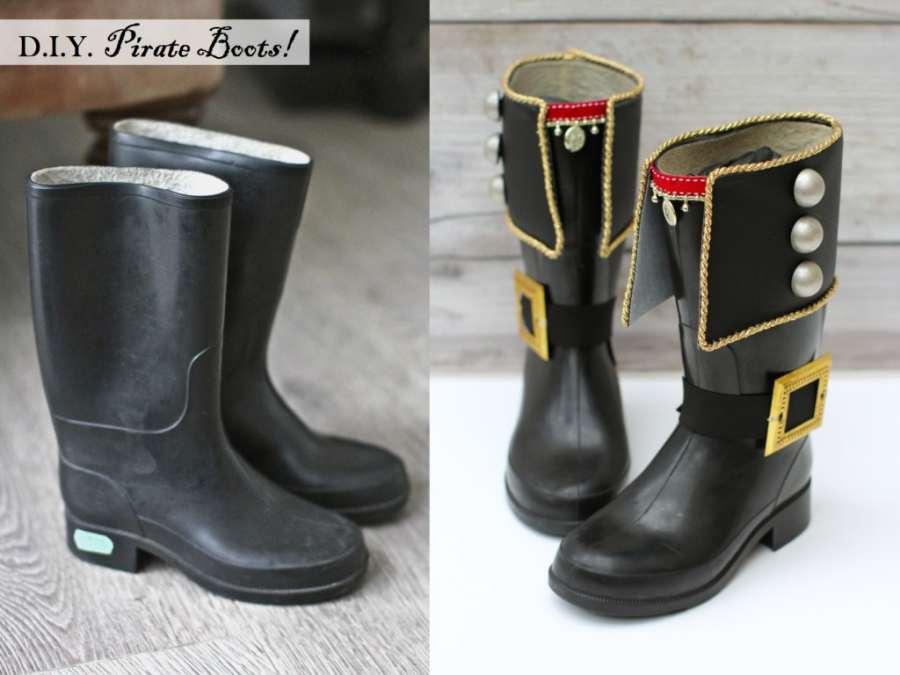 Cómo hacer botas para un disfraz de pirata