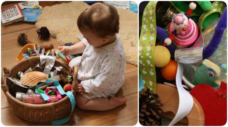 Juegos de bebés: la cesta sensorial
