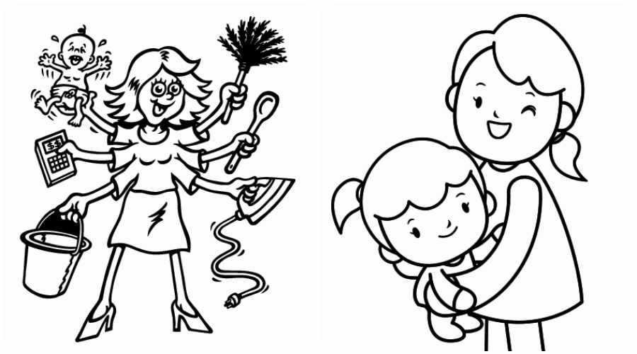 Día de la Madre: dibujos para colorear gratis