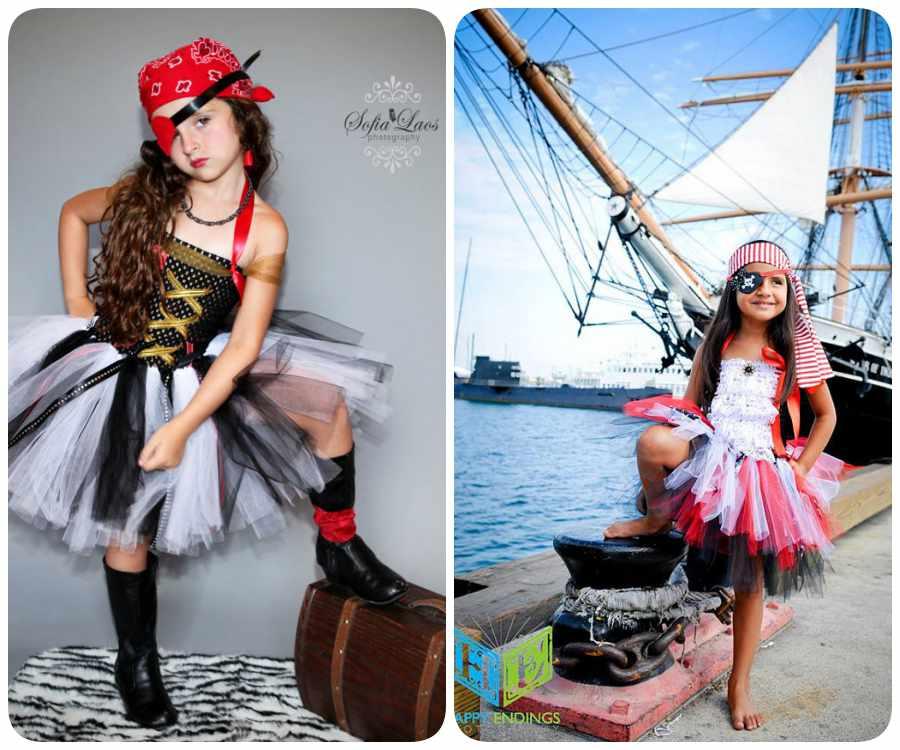 Disfraz de pirata con tutú