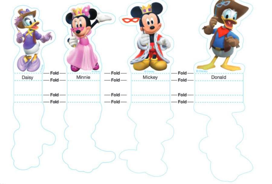 Recortables de La casa de Mickey Mouse