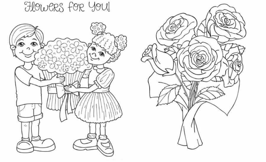 Dibujos para colorear: flores para el Día de la Madre