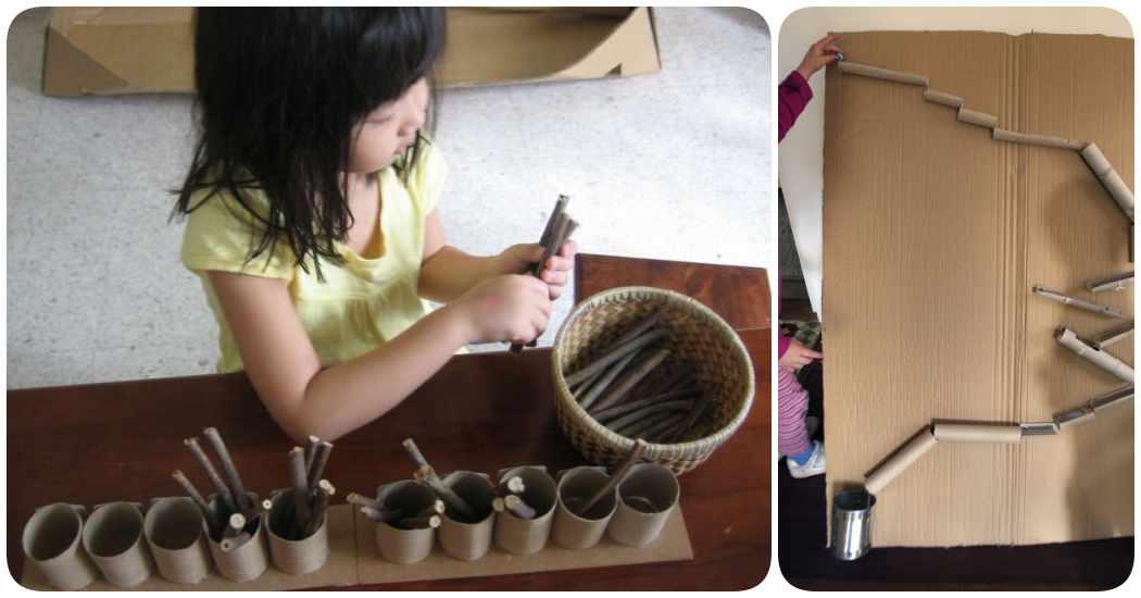 Juegos para niños con manualidades de reciclaje